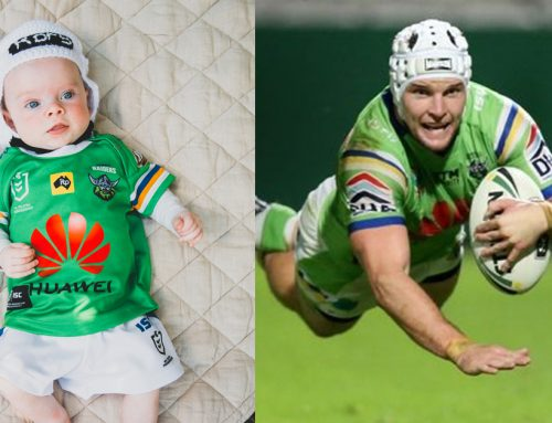 Baby Rory Croker dressed as dad Jarrod is so cute we can't even deal